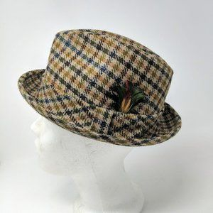Vintage Knox 50s Wool Tweed Fedora Hat